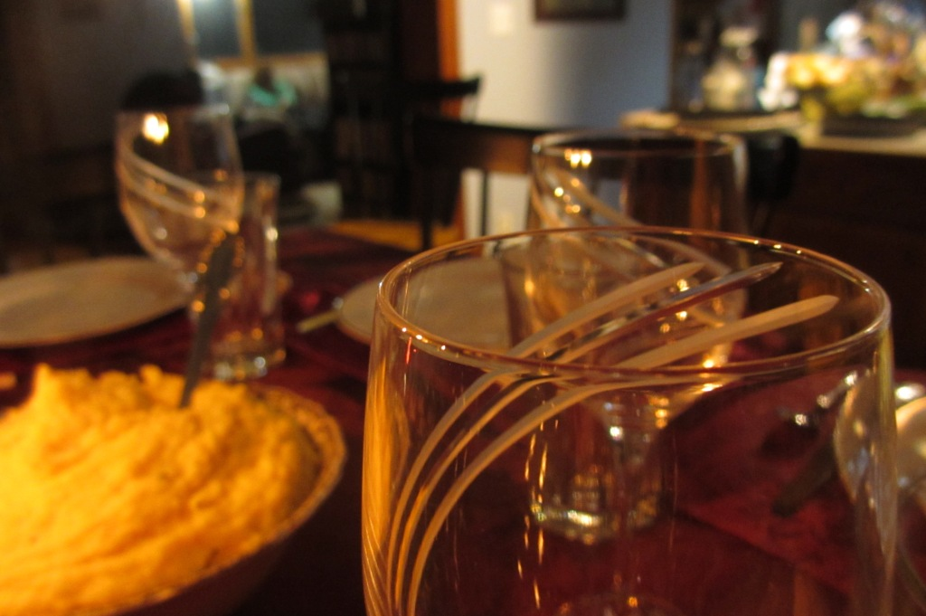 From the Thanksgiving photoshoot.  Wine glasses and mashed potatoes.