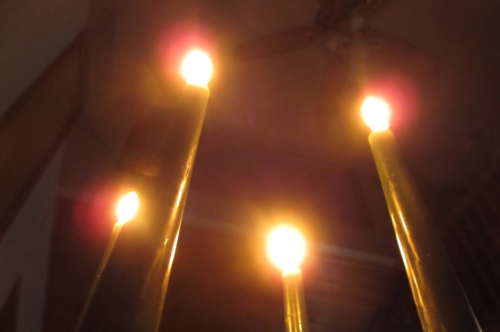 Another shot from Thanksgiving.  Candles and the ceiling.